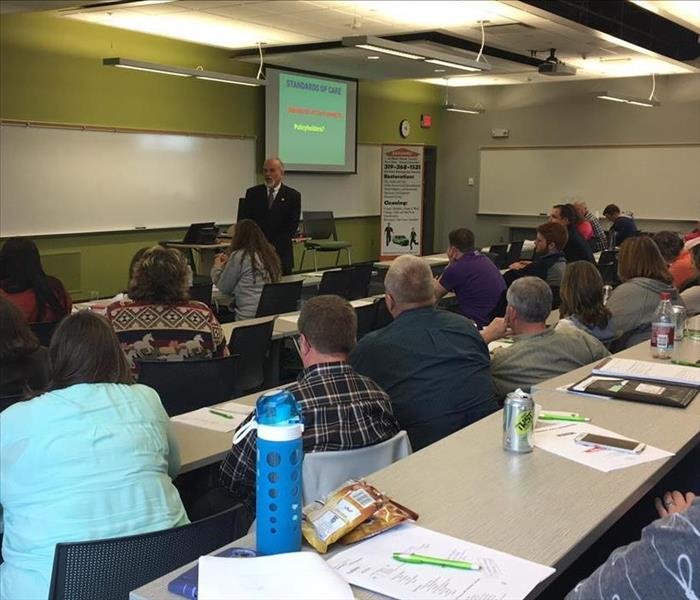 Great turnout from Insurance Agents to SERVPRO of Black Hawk County Continuing Education Classes!