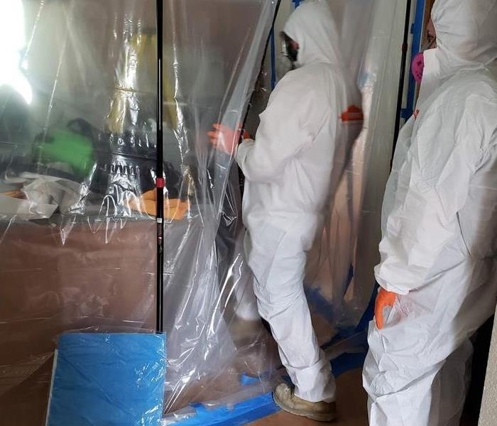 Mold Remediation Containment Barrier